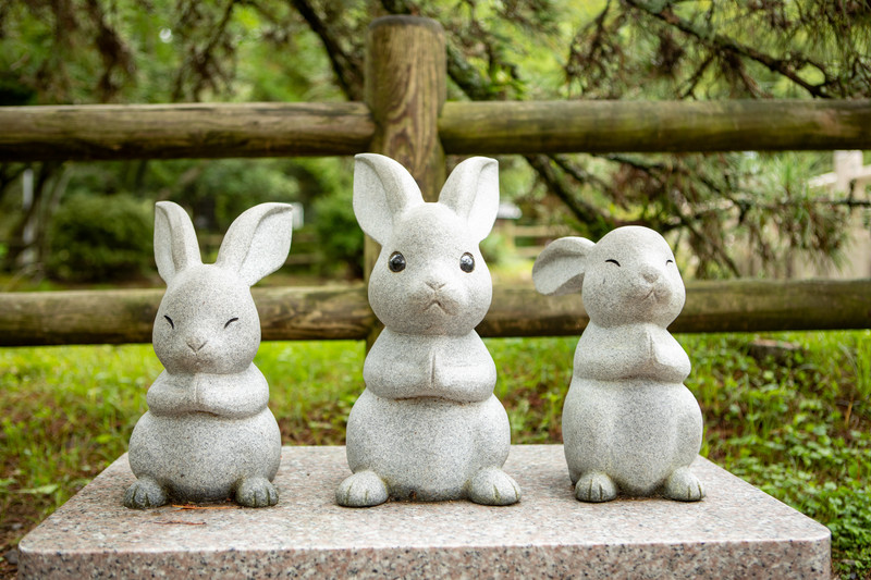 出雲神社のウサギ