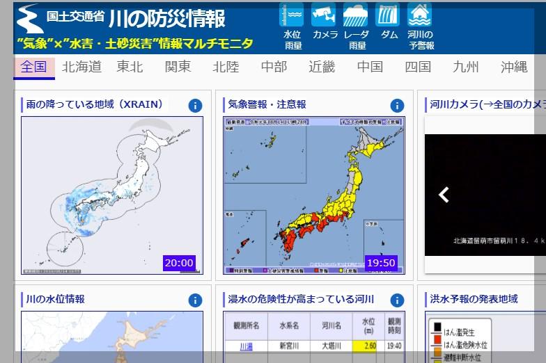 国土交通省の川の防災情報