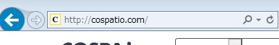 Internet Explorerでhttpサイトへアクセスした場合の画像