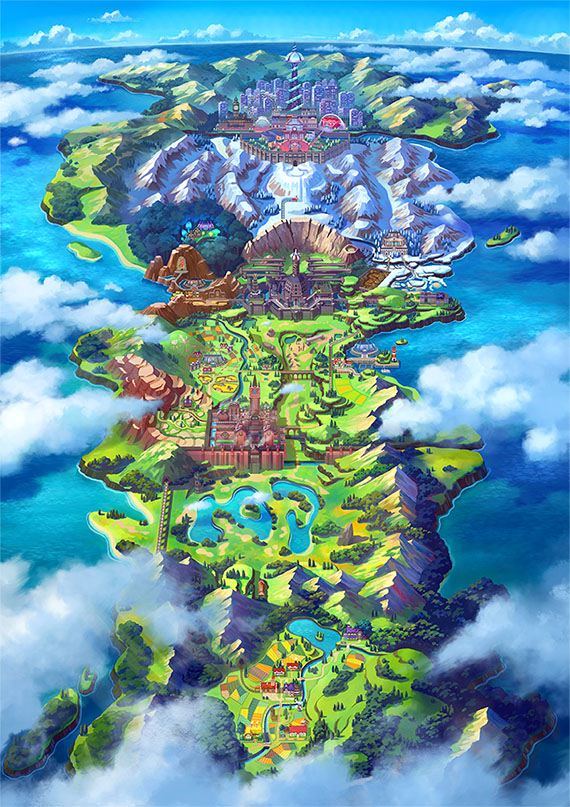 ポケットモンスターソード・シールドにおけるガラル地方のマップ