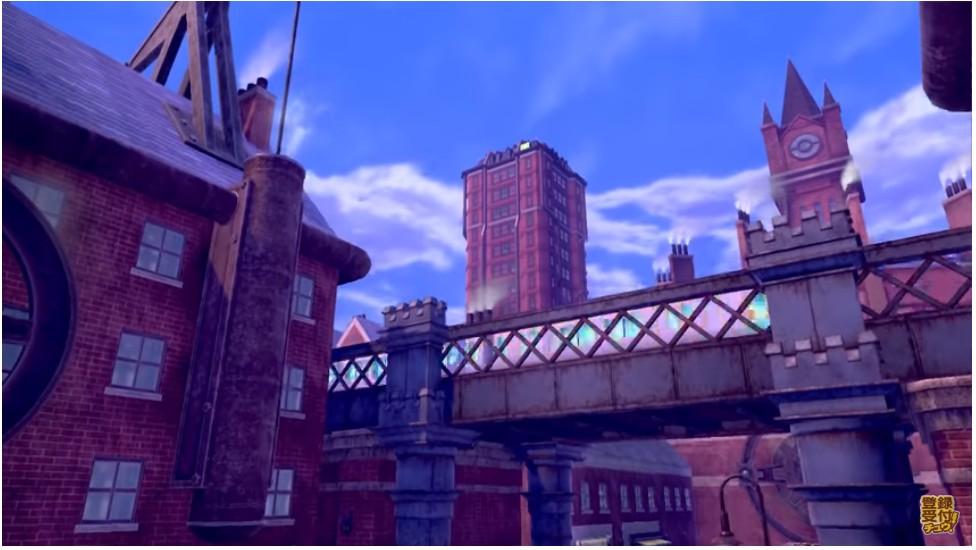 ポケモン剣盾に出てくるロンドンっぽいレンガ街