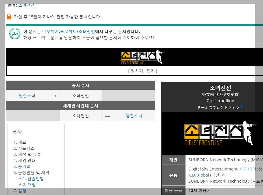 ドルフロの韓国語wiki