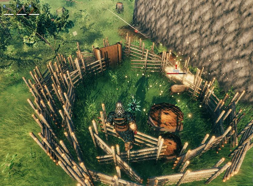 Valheimにおけるペット化2.狙った動物を柵の囲いに入れる