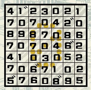 SPY×FAMILY謎解きスペシャルミッション3のマスに数字を入れた画像
