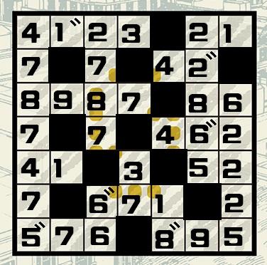 SPY×FAMILY謎解きスペシャルミッション3のマスに数字を入れた画像(塗りつぶし後)